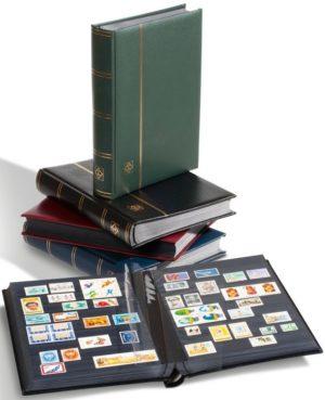 LZS 4/32 N bélyegberakó 32 lap/64 oldal, fekete lapos