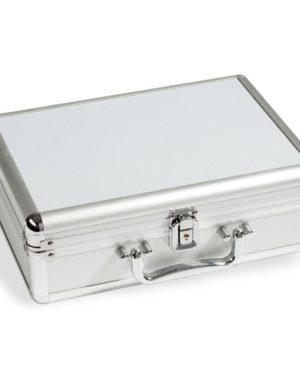 KOS – Alumínium érmetartó bőrönd (112 érme számára)