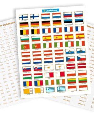 LE EURO 3 – Országcímkék és zászlósorok