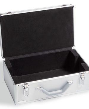 KO 6 LEER – Alumínium érmebőrönd 12 érme táblához (üres)
