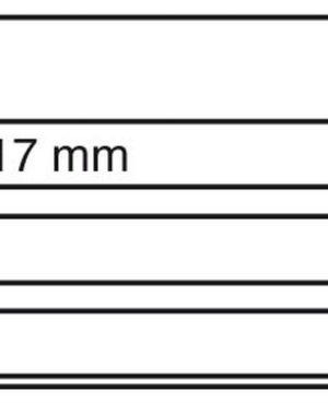 EKC6D/3S – Rendezőlap fedőlappal (3 csík)