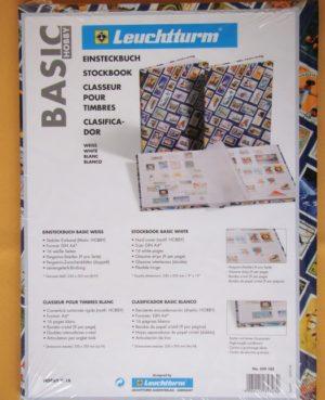 Hobby bélyegberakó mintás fedelű 4 lap/8 oldal, fehér lapos