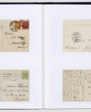 LP 4/32-2  Berakóalbum levelek és képeslapok számára, fehér lapos