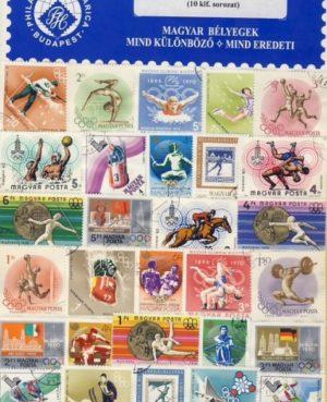 Magyarország – Olimpia – gyűjtemény (10 klf. sor) – 10 klf. bélyeg