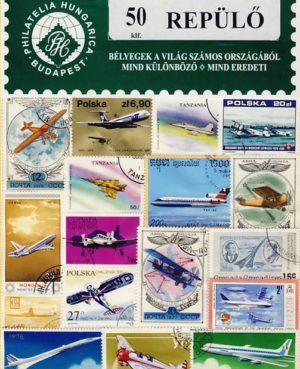 Repülő – 50 klf. bélyeg