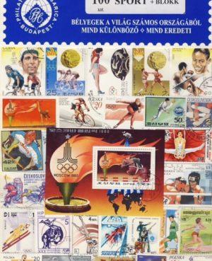 Sport 100 klf. bélyeg + 1 blokk