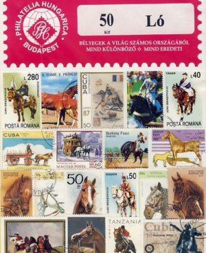 Ló – 50 klf. bélyeg
