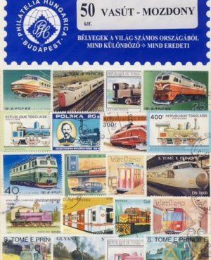 Vasút-mozdony – 50 klf. bélyeg