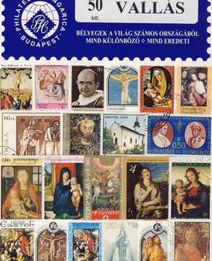 Vallás – 50 klf. bélyeg