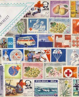 Vöröskereszt – 50 klf. bélyeg