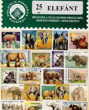 Elefánt – 25 klf. bélyeg