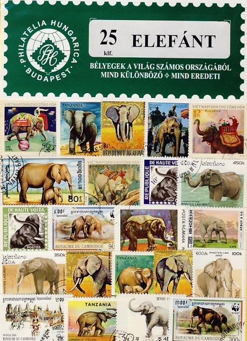 Elefánt - 25 klf. bélyeg