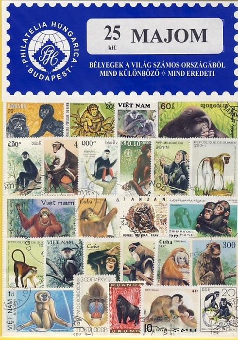 Majom - 25 klf. bélyeg