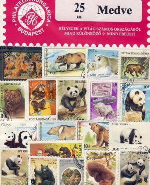 Medve – 25 klf. bélyeg