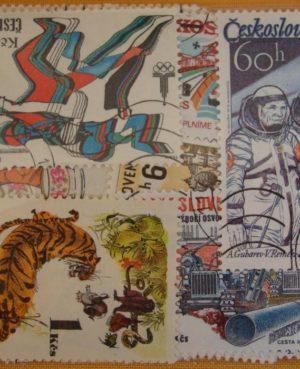 Csehszlovákia – 100 klf. motívum és képes bélyeg