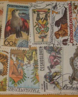 Csehszlovákia – 200 klf. motívum és képes bélyeg
