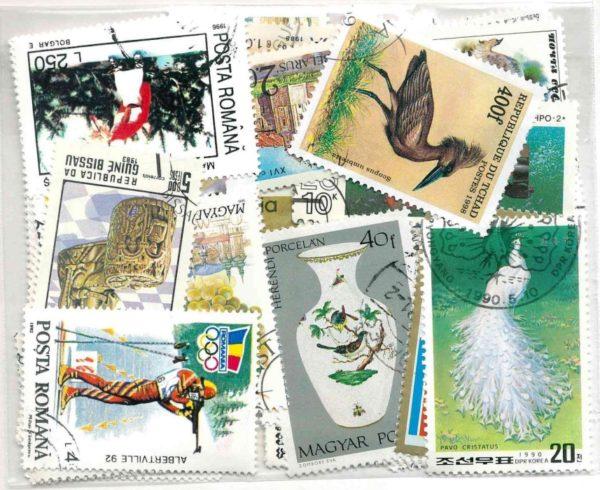 50 klf. motívum bélyeg több országból