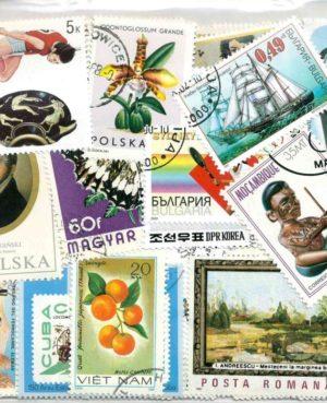 100 klf. motívum bélyeg több országból