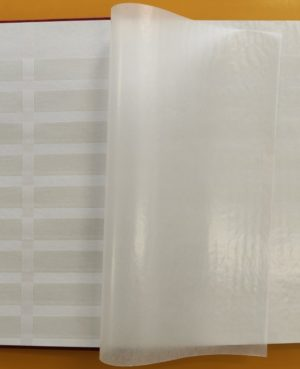 E 5051 Bélyegberakó 16 lap/32 oldal, fehér lapos (osztott)
