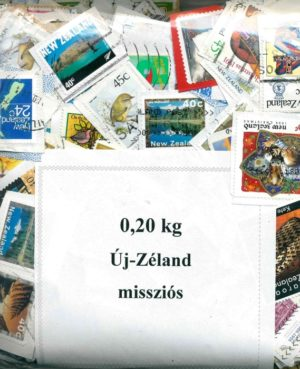 Új-Zéland – missziós bélyegek papírok – 0,20 kg kilóáru