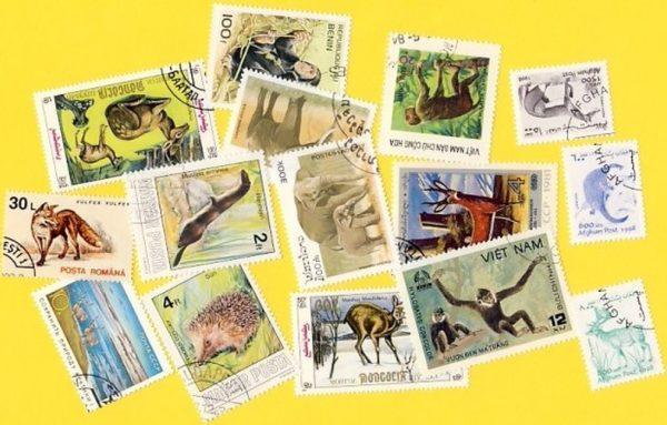 Állat (csak vad) - 50 klf. bélyeg