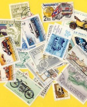 Autó és motorkerékpár – 25 klf. bélyeg