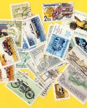 Autó és motorkerékpár – 50 klf. bélyeg