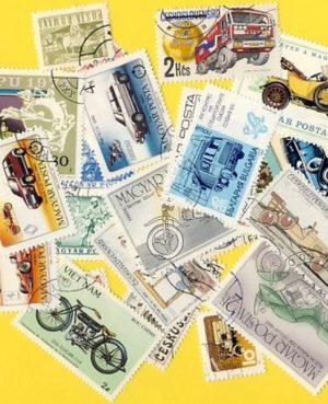 Autó és motorkerékpár – 100 klf. bélyeg