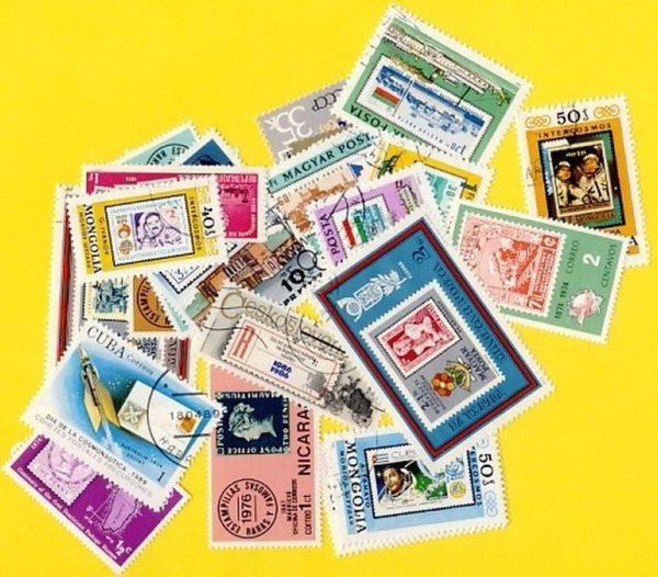 Bélyeg a bélyegen - 25 klf. bélyeg