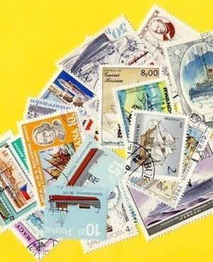 Hajó és csónak – 25 klf. bélyeg