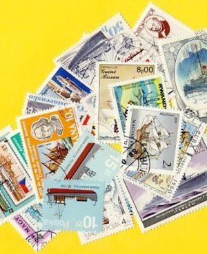 Hajó és csónak – 50 klf. bélyeg
