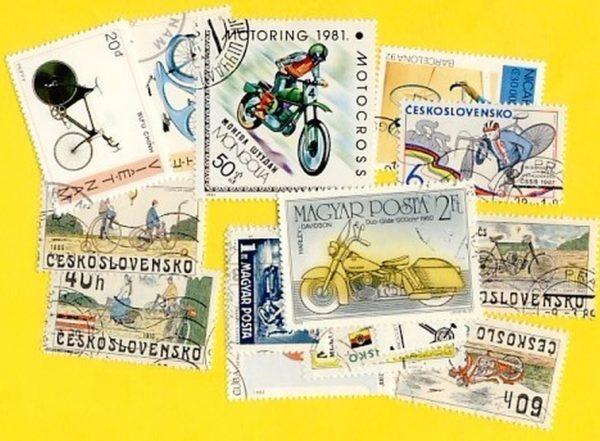Kerékpár és motorkerékpár - 25 klf. bélyeg