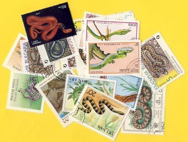 Kígyók - 25 klf. bélyeg