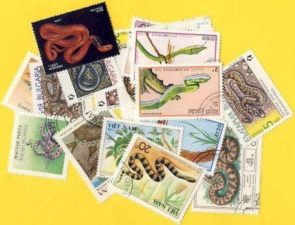 Kígyók - 35 klf. bélyeg