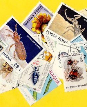 Lepke, méh, bogár – 25 klf. bélyeg