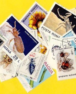 Lepke, méh, bogár – 50 klf. bélyeg