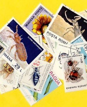 Lepke, méh, bogár – 100 klf. bélyeg