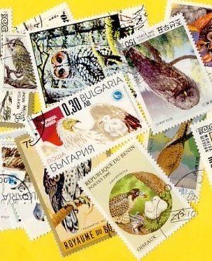 Madár (csak ragadozó) – 50 klf. bélyeg