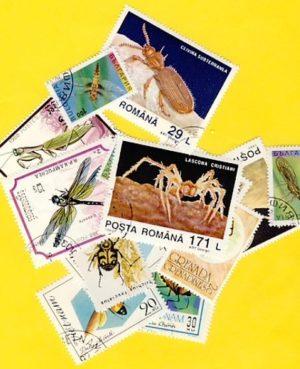 Rovar és pók – 25 klf. bélyeg