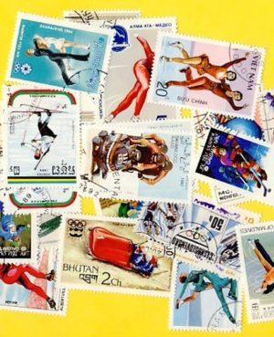 Téli sport – 50 klf. bélyeg