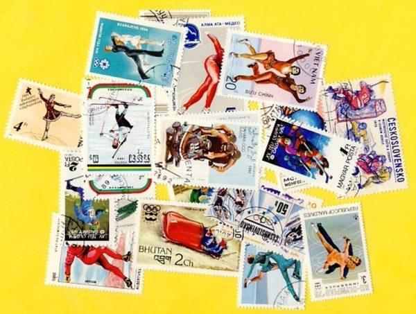 Téli sport - 50 klf. bélyeg