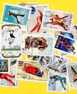 Téli sport – 100 klf. bélyeg
