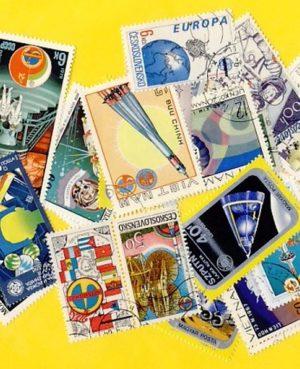 Űrkutatás – 100 klf. bélyeg