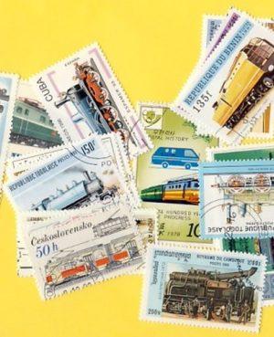 Vasút és mozdony -25 klf. bélyeg