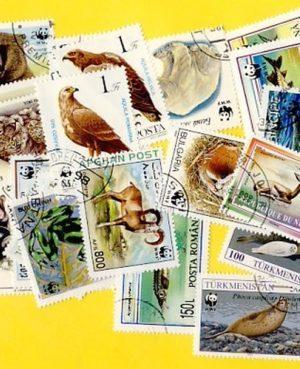 Veszélyeztetett növény- és állatfajok – 50 klf. bélyeg