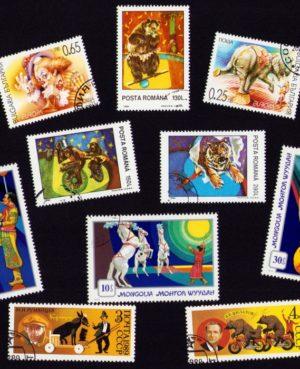 Cirkusz – 10 klf. bélyeg